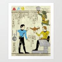 Hero-glyphics: Prime Directive Art Print