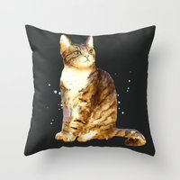 Here Kitty Cosmic Kitty Throw Pillow