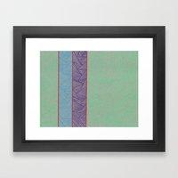 3 Red Lines  Framed Art Print