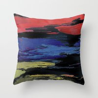 Primary Night Sky Throw Pillow