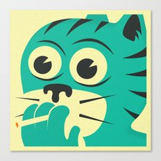 SMOKING CAT Canvas Print