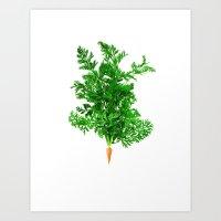 Carrot Art Print