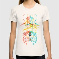 Diagram Of A Kiss Womens Fitted Tee Natural SMALL