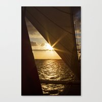 Sunset from the boat Canvas Print