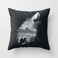 The White Wolf Throw Pillow