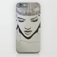 iPhone & iPod Case featuring Grimes by NikkiMaths