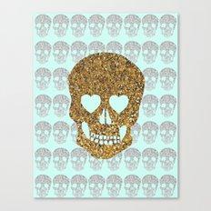 skulls & heartz;; Canvas Print