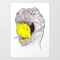 Zest For Life T-Rex Dino Art Print