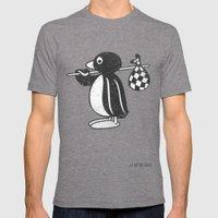 Pingu Mens Fitted Tee Tri-Grey SMALL