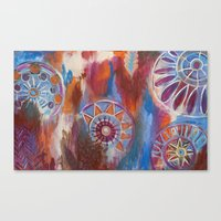 Abstract Mandalas Canvas Print