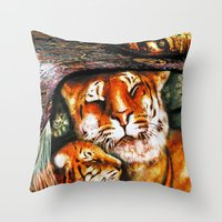 PERSIAN TIGER Throw Pillow