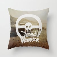 The Road Warrrior Throw Pillow