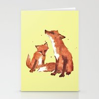 Lemon Foxes Stationery Cards