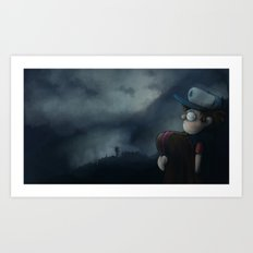 Gravity Falls Oregon Art Print