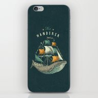 iPhone & iPod Skin featuring Whale | Petrol Grey by Seaside Spirit