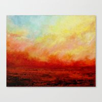SUNSET FIERY Canvas Print