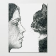 Observations Of A Cat Canvas Print