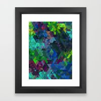 Soft Mini Triangles Framed Art Print