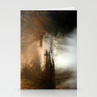 Foggy Alum Creek On A Ch… Stationery Cards
