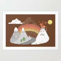 Volcano Fact Art Print