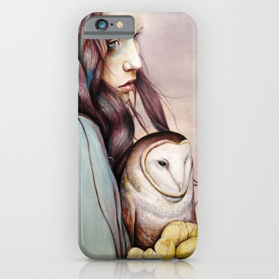 The Girl and the Owl iPhone & iPod Case