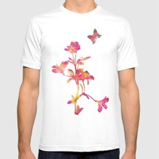 Think Pink White SMALL Mens Fitted Tee