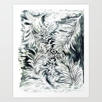 Watercolor_Feather Art Print