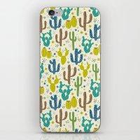 Prickly Cactus (Greens) iPhone & iPod Skin