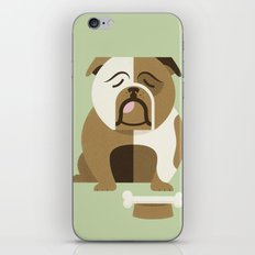 Bulldog - Green Variant iPhone & iPod Skin