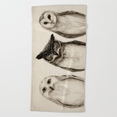 The Owl's 3 Beach Towel