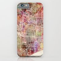 los angeles iPhone & iPod Cases featuring Los angeles by MapMapMaps.Watercolors