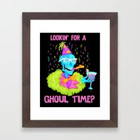 Lookin' For A Ghoul Time… Framed Art Print