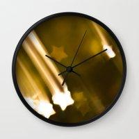 Bokeh of Stars Wall Clock