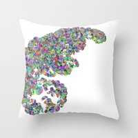 Color Binary Tree  Throw Pillow