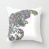 Color binary tree  Throw Pillow