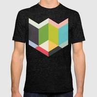 RubyTo Mens Fitted Tee Tri-Black SMALL