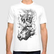 Destructive Creation Mens Fitted Tee White SMALL