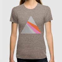 Sun On The Wall Womens Fitted Tee Tri-Coffee SMALL