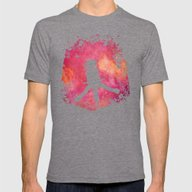 Chasing The Wind (pink) Mens Fitted Tee Tri-Grey SMALL