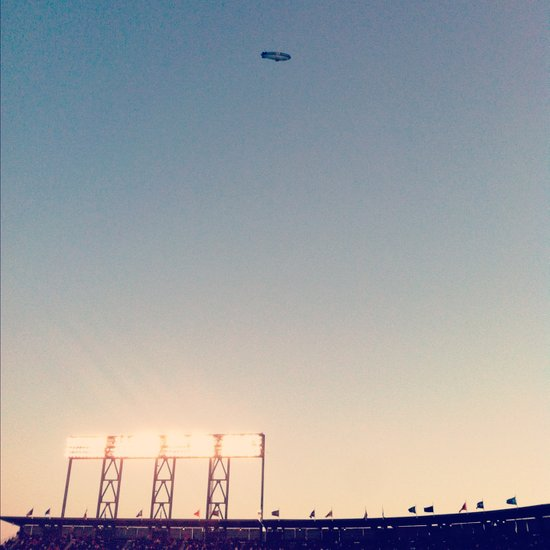 SFGiants Blimp Art Print