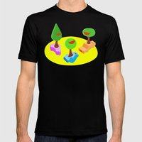 After Dark Fun Mens Fitted Tee Black SMALL