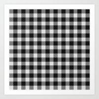 Sleepy Black And White P… Art Print