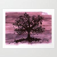 EYE TREE Art Print
