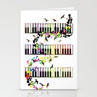 song birds Stationery Cards