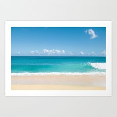 Turquoise wave Art Print