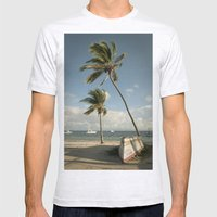 Dominican Republic 2 Mens Fitted Tee Ash Grey SMALL