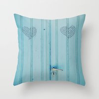 The Love Door Throw Pillow
