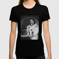 Frida In Space Womens Fitted Tee Black SMALL