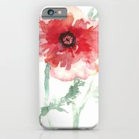 iPhone & iPod Case featuring Poppy Watercolor by Maria Hegedus