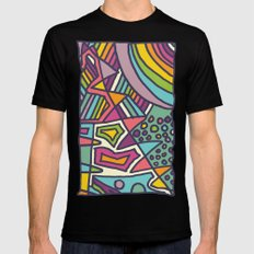 Colourful Chaos Mens Fitted Tee Black SMALL